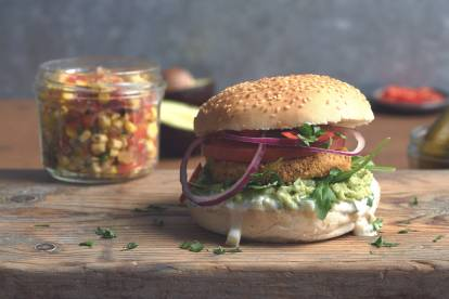 Quorn Hot & Spicy vegan burger