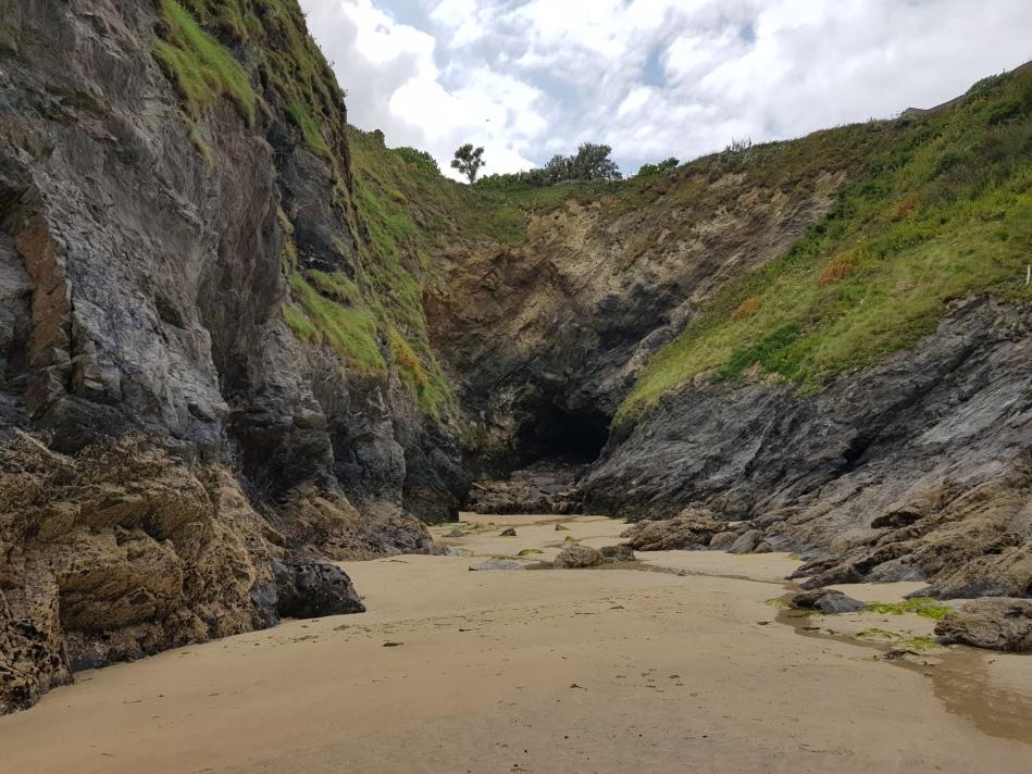 Cave on Towan Beach Newquay